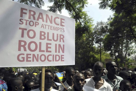 Manifestation à Kigali (dec 2008) Photo Reuters - Lauren Vopni.