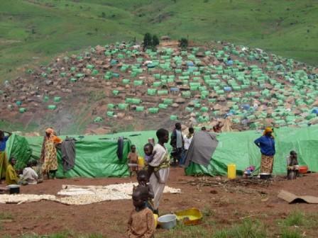 Camp de réfugiés en RDC (photo IRIN).